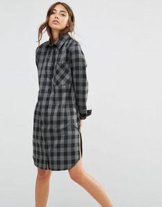 Платье-рубашка в клетку с карманом Daisy Street