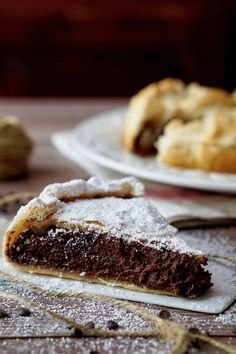 Torta di Sfoglia Cioccolato e Ricotta Mini Desserts, Chocolate Desserts, Healthy Desserts, Sweets Recipes, Cake Recipes, Nutella Pie, Tortillas Veganas, Gelato Recipe, Italian Cake
