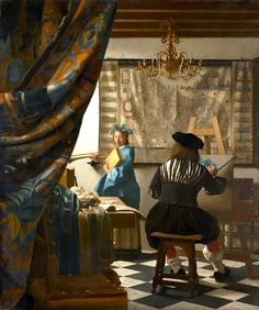 Johannes Vermeer, The Art of Painting (1666 - 1668) on ArtStack #johannes-vermeer #art