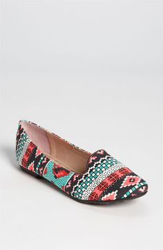 flats tribal print. Colorful shoes for tween girls