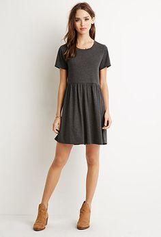 Heathered Babydoll Dress | Forever 21 - 2000131204