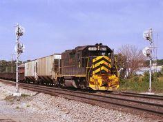GW 2039   Description:    Photo Date:  1/1/1993  Location:  Kansas City, MO   Author:  Jim Matuska  Categories:    Locomotives:  GWWR 2039(GP38)