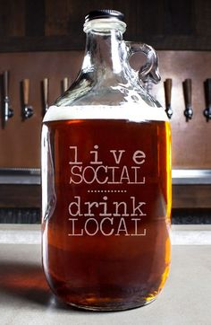 CATHY'S CONCEPTS 'Live Social Drink Local' Craft Beer Growler available at #Nordstrom