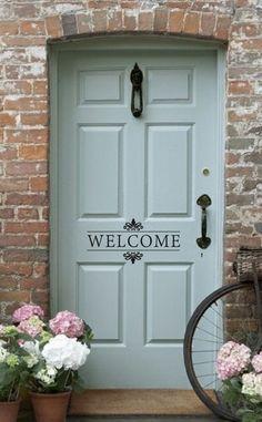 Welcome Vinyl Wall Decal – Front Door/Back Door Vinyl Lettering for the home on Etsy, $12.46 CAD