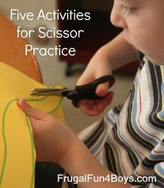 Five ideas for improving cutting skills for preschoolers or for older children that may have difficulties with fine motor activities