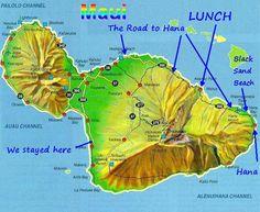 Road to Hana Waterfalls Map   Married With Bikes: Hawaii Day 3 - The Road to Hana - halfway