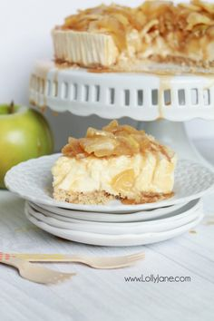 Easy caramel apple cheesecake recipe! So easy using @SaraLeeDesserts cheesecake base, this caramel apple cheesecake topping is a quick to make and is the perfect addition to your favorite cheesecake base! Yummy fall dessert, easy Thanksgiving recipe, great fall recipe idea! #fallrecipe #dessert #ad #uniquelyyours