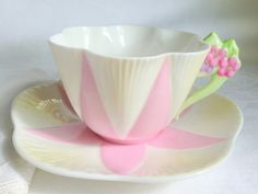 Scare Shelley Floral Handle Teacup and Saucer / by AprilsLuxuries