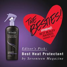 """Seventeen Magazine named Platinum Strength Heat Protectant Spray its """"Bestie."""" Is it yours?"""