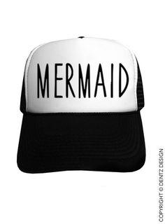 "Use coupon code ""pinterest"" Mermaid - Black Trucker Hat by DentzDenim"
