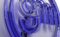 3D Neon Sign by Giu Magnani, via Behance made with #Cinema4D