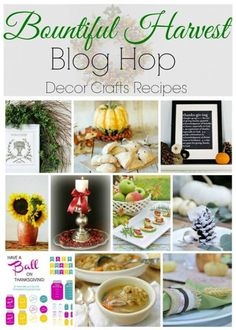 Harvest decor crafts, recipes and more