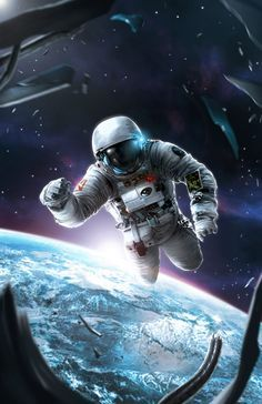 Space Illustration, Alexander Cutri on ArtStation at… Astronaut Wallpaper, Space Artwork, Space Odity, Space Illustration, Astronauts In Space, Lost In Space, Boxing Day, Deep Space, Space Travel