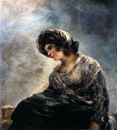 Francisco Goya, The Milkmaid of Bordeaux, Romanticism Spanish Painters, Spanish Artists, Francisco Goya Paintings, Francisco Jose, Old Master, Oeuvre D'art, Impressionism, Art Pictures, Les Oeuvres