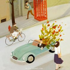Oamul Lu and his world of illustrations and animation Let's Make Art, Art Et Illustration, Jolie Photo, Illustrations Posters, Illustrators, Book Art, Images, Girly, Animation