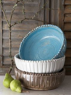 Vintage Beaded Ceramic Bowl
