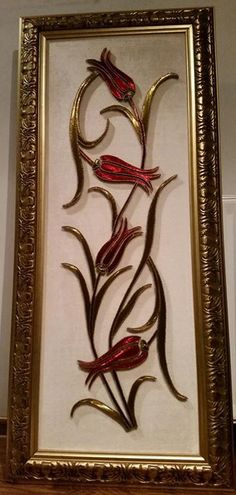Thread Art, Thread Painting, Fabric Painting, Hobbies And Crafts, Crafts To Make, Aluminum Crafts, String Crafts, Donia, Stained Glass Flowers
