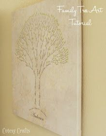 Family Tree Art Tutorial - I found the wall piece I'm going to make! @Melanie Bauer Webb @Marsha Penner Daniels