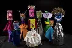 Algunas de piezas de la serie 'Terrícolas' de Alicia Viteri, que se exhiben en el MAC.