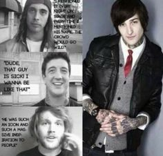 Mitch Lucker R.I.P. <3  But, Vic grin, smile, you look mad.