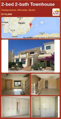2-bed 2-bath Townhouse in Campoamor, Alicante, Spain ►€115,500 #PropertyForSaleInSpain