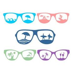 {Daily FREE Cut File} Beach Sunglasses - Available for FREE today only, July 6