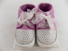 One Ruby Lane Baby Shoes Purple Sneakers with Bling  Size 0-3, 3-6, 6-9, 9-12 Mo #OneRubyLane #CasualShoes