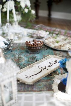Persian wedding setting / sofreh aghd