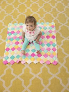 Happy Valley Baby Afghan (Knit) - Patterns - Lion Brand Yarn