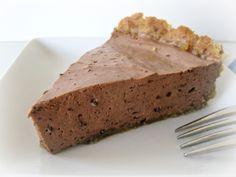 A smooth, creamy ice box pie in a nut crust. (Sugar-free, Gluten-free, but tasty!)