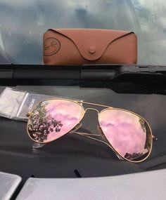 f8a92c0ed5 Ray-Ban RB3025 112/Z2 Aviator Sunglasses Gold / Copper Flash 58mm PINK  Mirror. ComprarCosasLentes Espejados ...