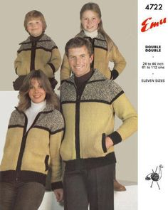 Knitting Pattern Chest Sizes : 1000+ images about Single - Women Knit Cardigans Vintage Patterns for downloa...