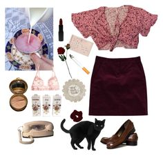 """""""62"""" by zeonies ❤ liked on Polyvore featuring Talbots, Theory, MAKE UP STORE, Laura Cole, Vince, Forum, La Perla and Miss Selfridge"""