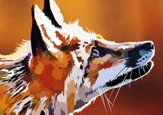 Flamingo Vector by elviraNL on DeviantArt Fox Eyes, Pop Art, Eyes Artwork, Make Photo, Arte Pop, Photo Canvas, Geometric Art, Animal Drawings, Vector Art