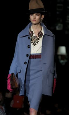 Winter 2014 Fashion Trends Blue Night Wear in Berlin Fashion Week