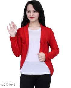 Capes, Shrugs & Ponchos Stylish Shrugs Fabric: Cotton blend  Sleeve Length: Long Sleeves Pattern: Solid Multipack: 1 Sizes: XS - 34 in  S - 36 in  M - 38 in  L - 40 in  XL - 42 in  XXL - 44 in Country of Origin: India Sizes Available: XS, S, M, L, XL, XXL   Catalog Rating: ★4 (3089)  Catalog Name: Trendy Modern Women Capes Shrugs & Ponchos CatalogID_1138934 C79-SC1024 Code: 322-7134046-864