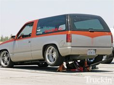 Truckin Throwdown Performance Competition 1996 Chevy Tahoe Rear On Jacks