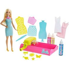 Check out the Barbie Crayola Color Magic Station Doll & Playset at the official Barbie website. Explore the world of Barbie and Crayola today! Mattel Barbie, Barbie Dress, Barbie Doll, Splash Effect, Barbie Website, Crayola, Washable Paint, Color Magic, Paint Splash