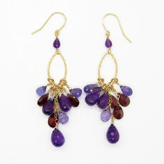 Purple Earrings...Our favorite color.  Wear purple, Eat purple.