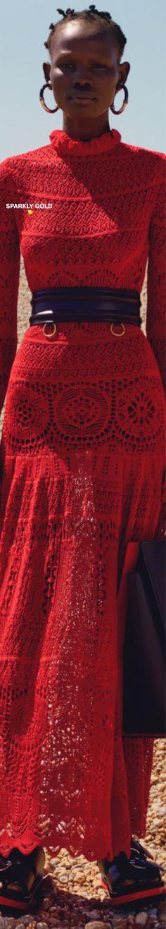 Alexander McQueen Resort 2020 | Sparkly Gold :: Alexandre Mcqueen, Alexander Mcqueen Couture, Lace Skirt, Mc Queen, Crochet, Skirts, Red, Collection, Navy