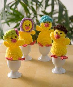 Best Free Crochet » Free Cozy Egg Family Crochet Pattern from RedHeart.com