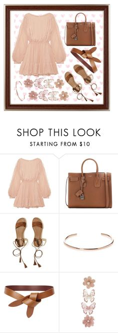 """""""SweetCream"""" by sylvania-dark on Polyvore featuring LoveShackFancy, Yves Saint Laurent, Hollister Co., A.V. Max and Monsoon"""