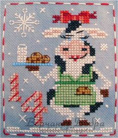 Cassie Cow of the Brooke's Books Advent Animals Cross Stitch Freebies… Cross Stitch Freebies, Cross Stitch Charts, Cross Stitch Designs, Cross Stitch Patterns, Learn Embroidery, Cross Stitch Embroidery, Embroidery Patterns, Hand Embroidery, Pinterest Cross Stitch