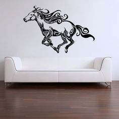 Tribal Horse Running - Wall Decal Sticker Graphic