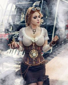 steampunktendencies:  Captain Irachka Cosplay Photohgrapher: Alexey Vododoknov