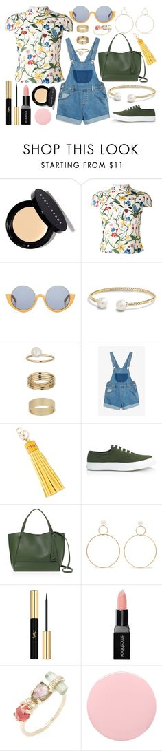 """Untitled #86"" by allegral ❤ liked on Polyvore featuring Bobbi Brown Cosmetics, Alice + Olivia, Marni, David Yurman, Miss Selfridge, Monki, Anya Hindmarch, Maison Kitsuné, Botkier and Natasha Schweitzer"