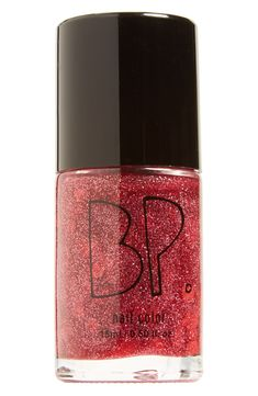Will wear this red glitter nail polish on Valentine's Day!