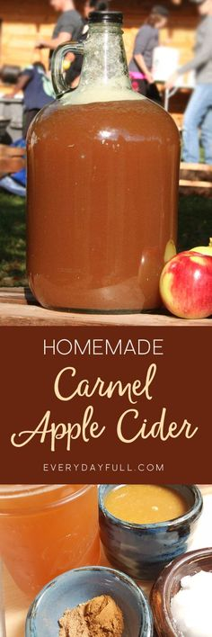 HOMEMADE SALTED CARAMEL APPLE CIDER RECIPE - The perfect fall drink on a chilly night. With the combination of homemade salted caramel sauce and homemade pumpkin spice, this warm drink also boasts healthy coconut oil to warm you all the way through. The p #homebrewingrecipescider