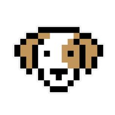 Susan Kare 8-Bit Wall Graphics Collection from WALLS 360: Dog