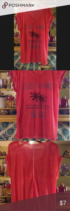 Hot Pink Burnout Los Angeles T-Shirt Graphics intentionally distressed by manufacturer.  In excellent condition, freshly laundered and ready for shipping! Tops